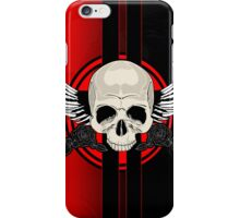 Wing Skull - RED iPhone Case/Skin