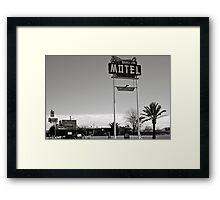 Burro Jim Motel Framed Print