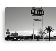 Burro Jim Motel Canvas Print