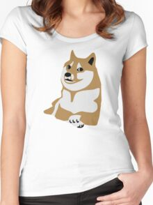 Doge meme Women's Fitted Scoop T-Shirt