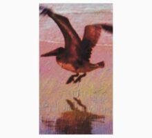 Beautiful Pelican in Flight with his Shadow Kids Tee