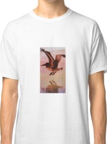 Beautiful Pelican in Flight with his Shadow Classic T-Shirt