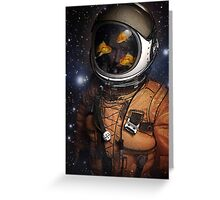 Astronauts and Goldfish Greeting Card