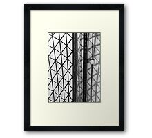Lines and Shadows Framed Print