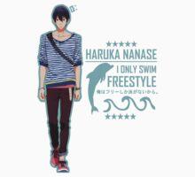 Free! - Haruka Nanase T-Shirt by yukihoes