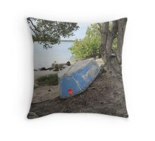 Chained & Forgotten! Tweed River, Tweed Heads,N.S.W. far nth. coast. Throw Pillow