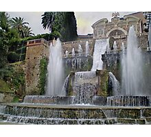 Raining up and down in Villa d'Este Photographic Print