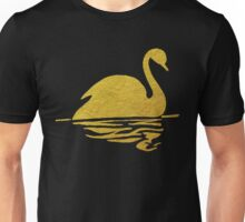 Gold Swan Reflection Unisex T-Shirt