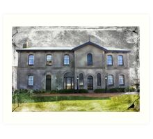 Spooky Old Mansion Art Print