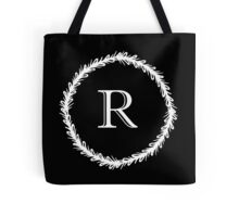 Monochrome Monogram R Tote Bag