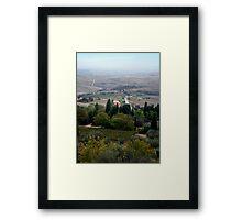 Pienza Landscape Framed Print