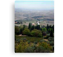 Pienza Landscape Canvas Print