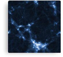 The Cosmic Web (Blue) Canvas Print