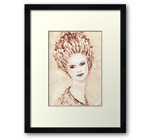 Young beautiful girl  Framed Print