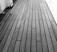 Deck, Royal Yacht Britannia, Edinburgh by Robert Steadman
