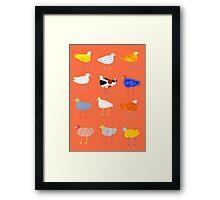 You Funky Bird Framed Print
