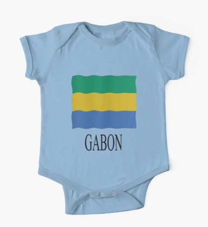 Gabon flag One Piece - Short Sleeve