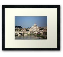 Sunday morning in Rome Framed Print
