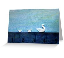3cm Family Swim Greeting Card