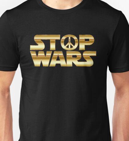STOP WARS gold Unisex T-Shirt