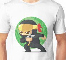 Little Ninja Holding Shuriken Unisex T-Shirt