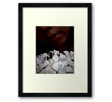 Substitute for a silent mouth of sorrow Framed Print