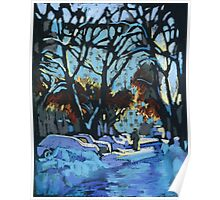 Evening light in winter Poster