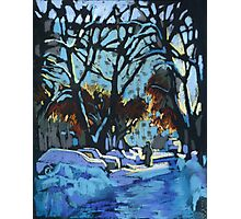 Evening light in winter Photographic Print