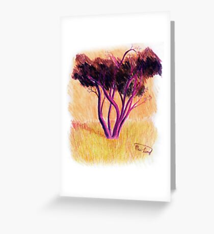 Drawing Day Tree Greeting Card