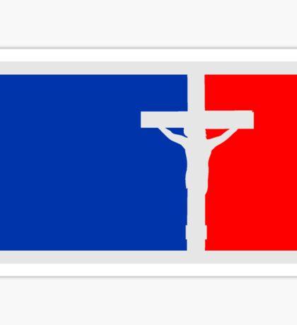 sport rot blau tot angenagelt kreuz symbol team crew freunde jesus christus cool logo design  Sticker