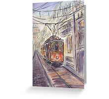 Old tram Greeting Card