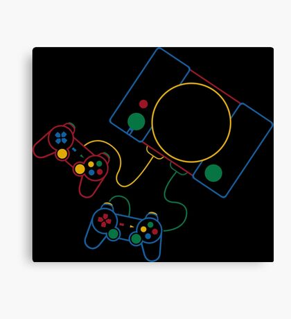 PlayStation Icon SFC Style Canvas Print