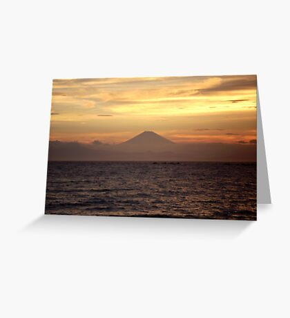 Mt. Fuji Sunset V Greeting Card