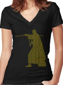 Star Wars Rogue One Quote Chirrut Imwe Donnie Yen The Force Women's Fitted V-Neck T-Shirt