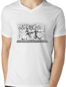 Pussy Cats Mens V-Neck T-Shirt