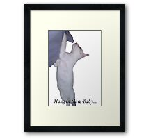 Hang in there Baby... Framed Print