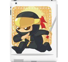 Little Ninja Holding Japanese Sword iPad Case/Skin
