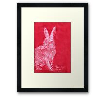 White Rabbit (Monochromatic Hue Series) Framed Print