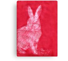 White Rabbit (Monochromatic Hue Series) Canvas Print