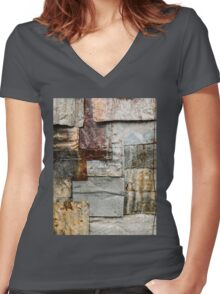 Aussie Corrugated Galvanised Iron #21 Women's Fitted V-Neck T-Shirt