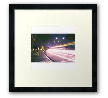 Light streak  Long exposure  Framed Print