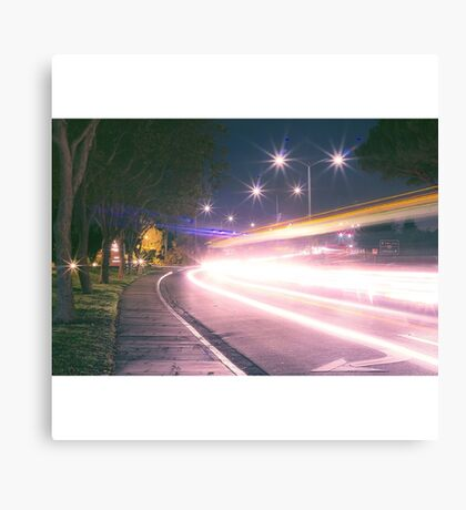 Light streak  Long exposure  Canvas Print