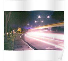 Light streak  Long exposure  Poster