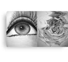 Eye and Flower Diptych Canvas Print