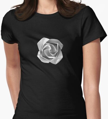 Snow Flower Womens Fitted T-Shirt