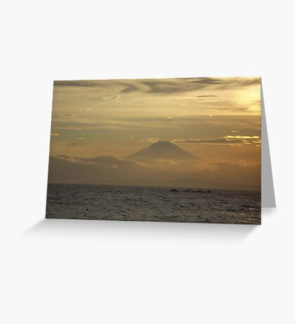 Mt. Fuji Sunset I Greeting Card