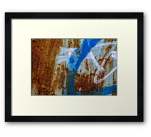 Grunge texture & background: colorful rusty metal texture Framed Print