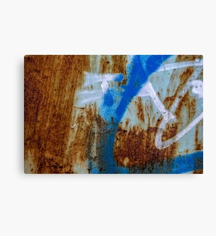 Grunge texture & background: colorful rusty metal texture Canvas Print