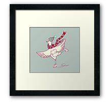 Winter skating chicken Framed Print