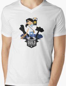 Girl Adventurer Mens V-Neck T-Shirt